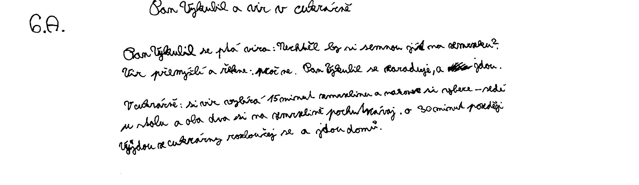 Example of an essay written by a pupil of ZS Korunovacni (Year 6)
