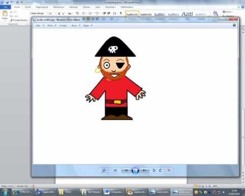 Pirate Pete created in Paint